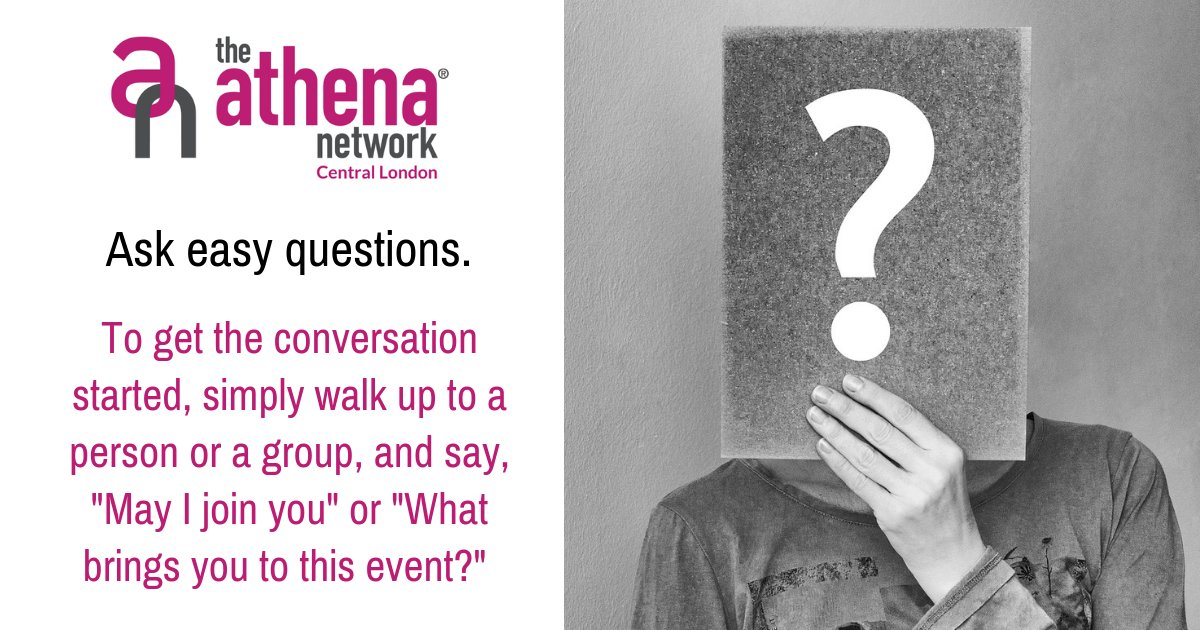 Don't forget to listen intently to their replies. If you're not a natural extrovert, you're probably a very good listener – and listening can be an excellent way to get to know a person.  Get in touch for more info.  #AthenaCentralLondon #MagentaTribe #Networking #Women https://t.co/Q3oui8eEU1