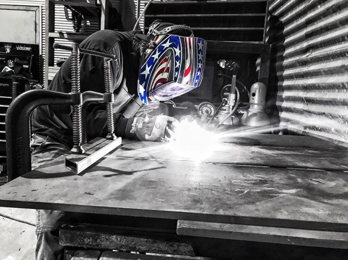 Thanks for all the shout outs for Miller® patriotic welding helmets. Show us your red, white and blue. #MillerWelders #weldblue    PC: Instagram users welderassassin, gabe_vanwormer and chealsemarie95 https://t.co/XoyJMQM7Zc