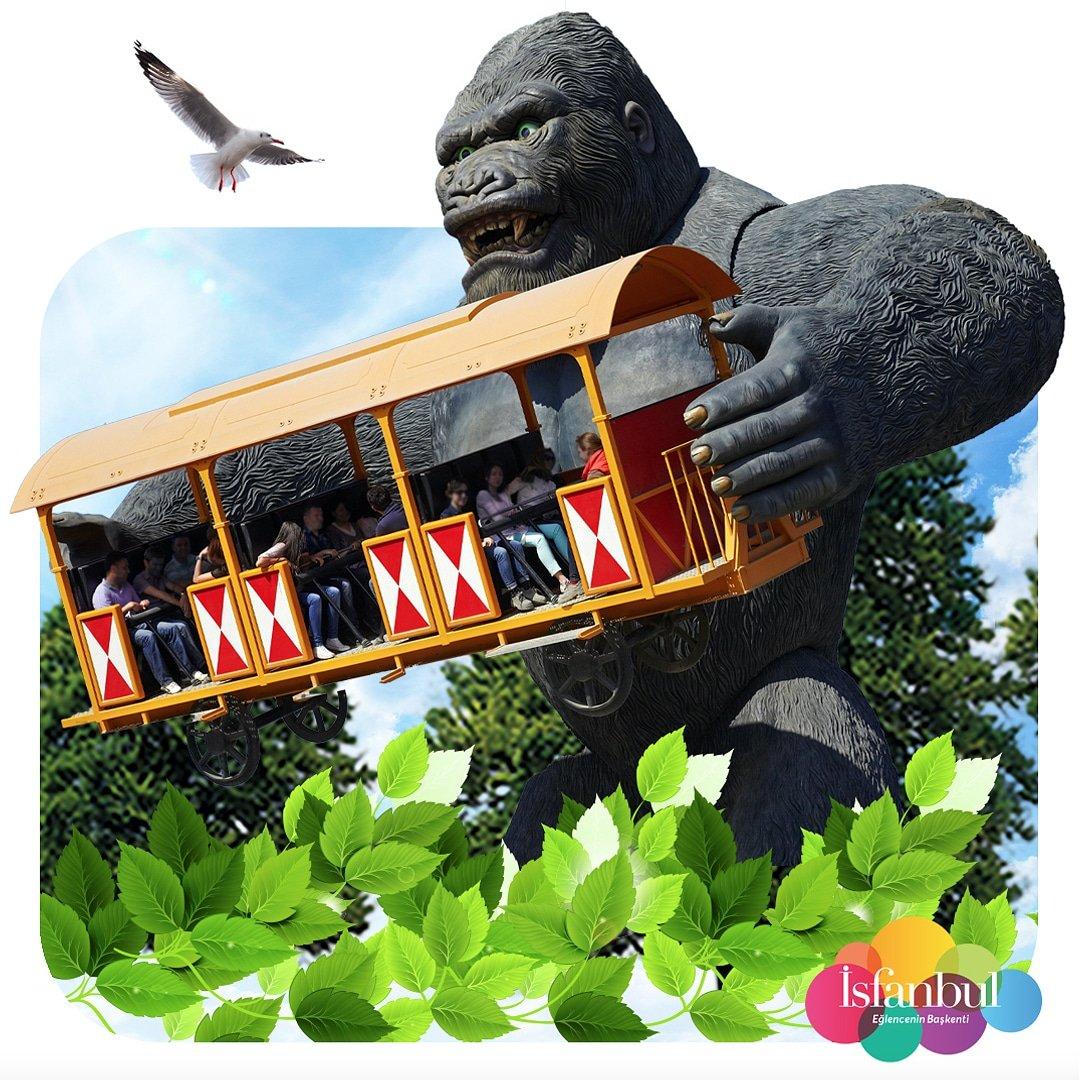 15 metre yüksekte, eğlence ve kahkaha bir arada! 🤩 #KingKong, İsfanbul Tema Park'ta seni bekliyor. 🦍🤗  #isfanbul #temapark #themepark #eğlenceninbaşkenti #eğlenceninfanları #fun #capitalofentertainment #follow