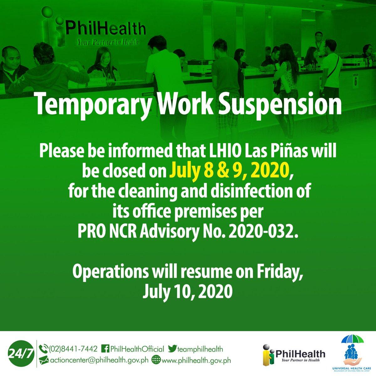 Philhealth On Twitter Please Be Informed That Lhio Las Pinas