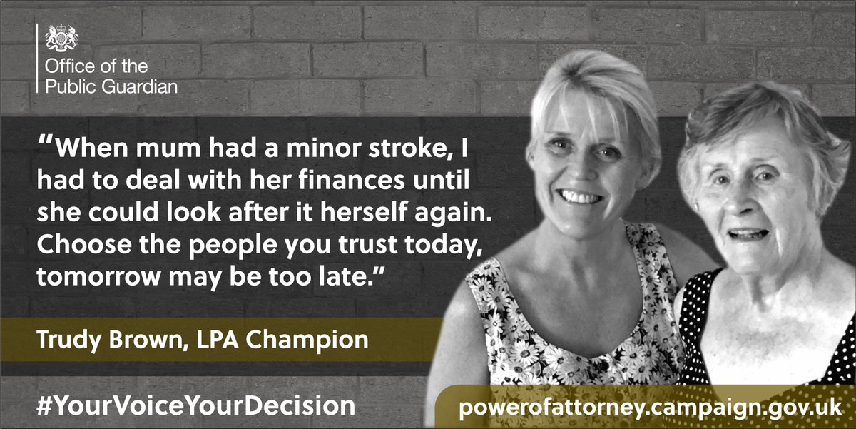 At OPG we know the work we do helps thousands of people every day, which is why we take pride in playing our part.  A lasting power of attorney could be the best decision you make to protect your future #YourVoiceYourDecision #LPAChampion  Go online💻 https://t.co/TxIrd3XZUw https://t.co/mX5rGnCdBy