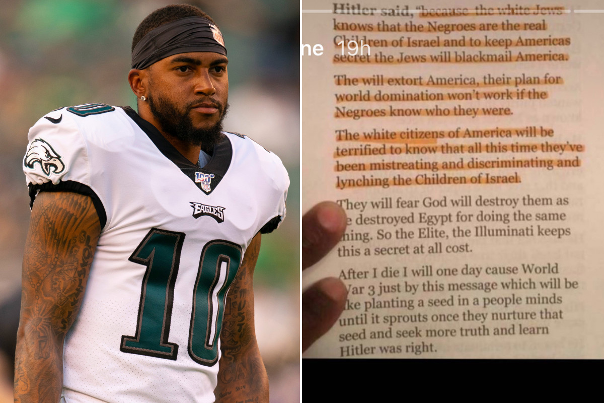 DeSean Jackson posts anti-Semitic quotes attributed to Adolf Hitler https://t.co/jGZOpC7bzo https://t.co/taXKFJqiHv
