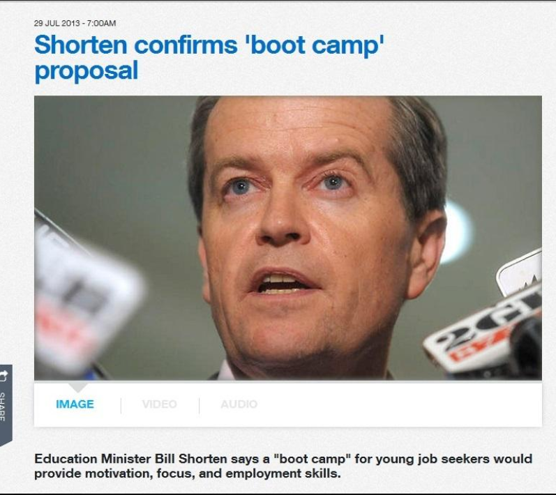 #CREDLIN  Poor Anna Whatshername in #QLDPOL  The internet is forever.    #AUSPOL   Remember when Bill Shorten confirmed  BOOT CAMPS were the Labor plan.   LOLpic.twitter.com/75mr8P2i3M