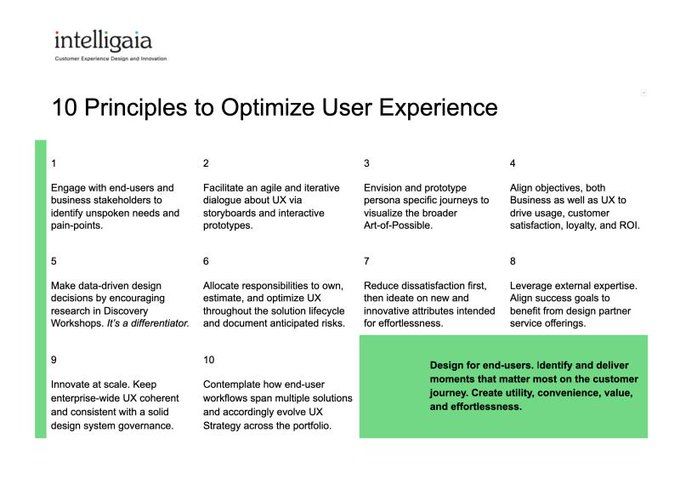 Here's a handy collection of UX Principles you can print out to assist your cross-functional teams in design sprints.  #userexperience #UXprinciples  #optimize<br>http://pic.twitter.com/Yjvlu5um7w