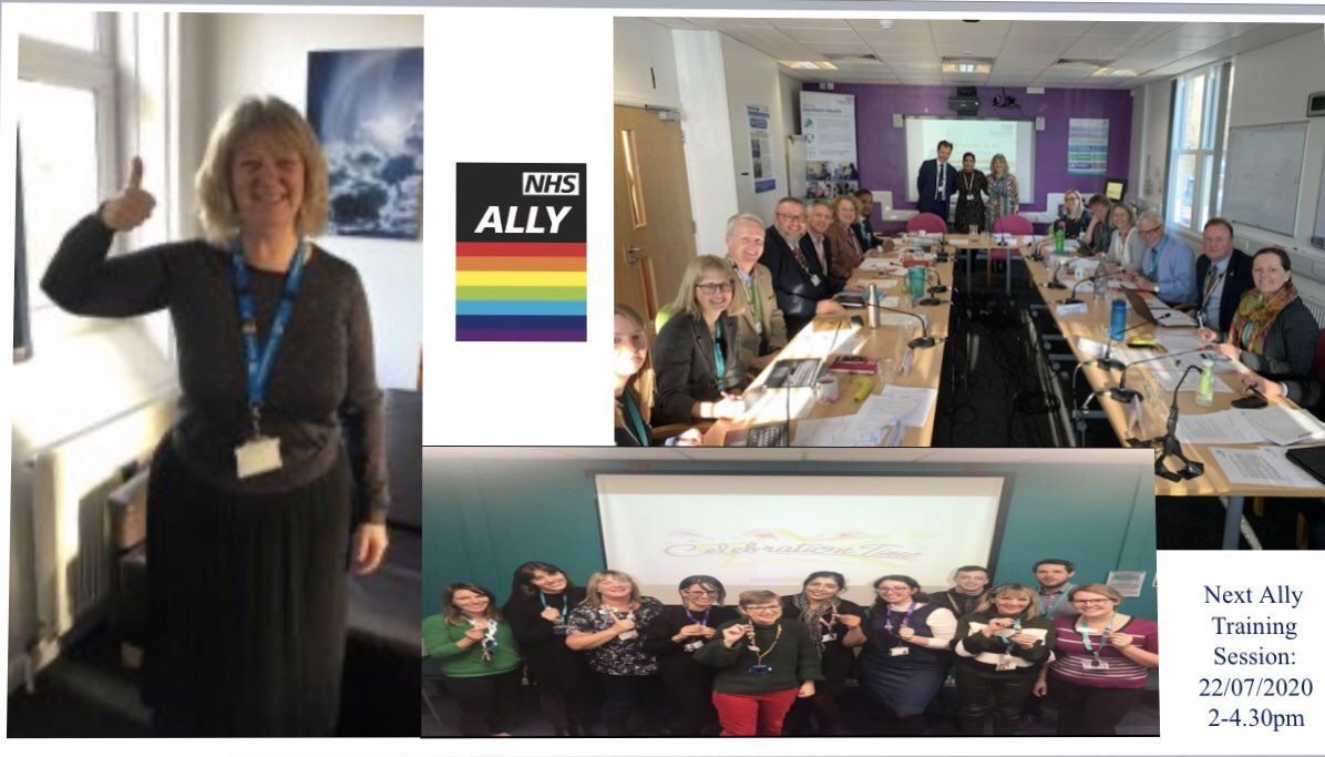"Delighted to confirm we now have over ONE HUNDRED @Southern_NHSFT Allies! If you would like to attend our next ""Becoming a Southern Health Ally"" session please contact @PeopleDevelopm1 #Ally @DraycottPaul @chairLynneSHFT our 1st Ally will be opening the next session 🏳️‍🌈🖤🤍💜❤️"