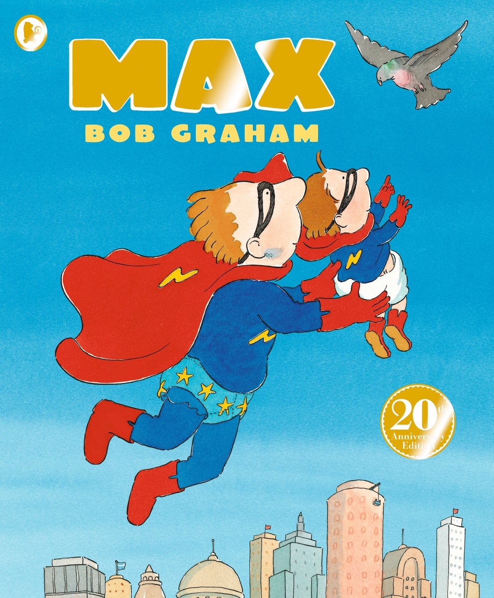 Can you believe it's been TWENTY YEARS since #BobGraham's heroic tale MAX was first published? 🦸 Max is the son of legendary superheroes Captain Lightning and Madam Thunderbolt, but will he ever learn to fly too?  The 20th anniversary paperback edition of MAX is out this month✨ https://t.co/2a5rXbLn6t