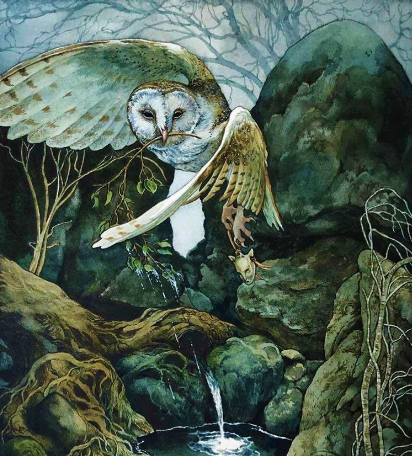 In Welsh tradition, Arianrhod is the Goddess of the Moon and the Stars. Thanks to her ability to shape shift in a large owl, representing wisdom, death & renewal, she can see into the depths of the human soul & carry the dead to the Moon, the land of the death. #FairyTaleTuesday pic.twitter.com/lXwloY1wTa