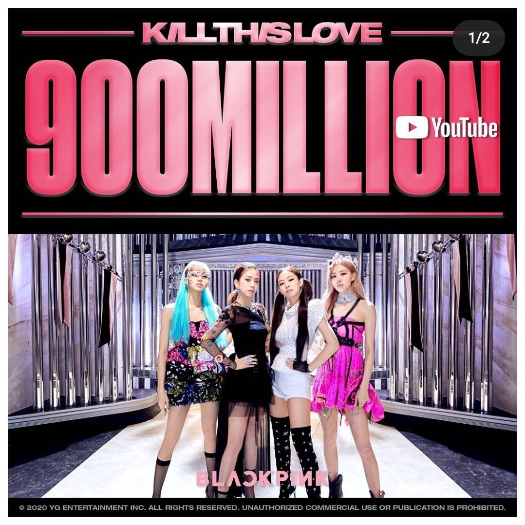 ROAD TO 1 BILLION, GUYS. ARE YOU G??  @BLACKPINK #KillThisLove pic.twitter.com/jo796y6gXI
