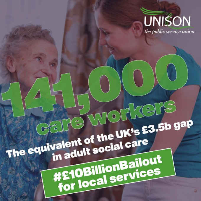 We urge all Labour councillors to back this brilliant campaign from @unisontheunion Local councils need a #10BillionBailout to keep communities safe and rebuild the country - without it services will be cut and jobs lost. Sign the petition👇 action.unison.org.uk/page/63837/pet…