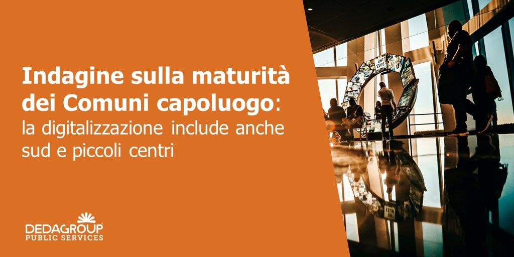 """In occasione di #FORUMPA2020, @FPA_net ha realizzato - in esclusiva per Dedagroup Public Services - l'""""Indagine sulla maturità dei Comuni capoluogo"""", con l'obiettivo di misurare l'avanzamento della PA italiana nel suo percorso di innovazione.  Info > https://t.co/uMyVmJ12KW https://t.co/aH28Xt3A2u"""