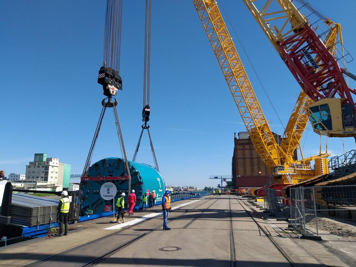 #TunnellingTuesday Tunnel Boring Machine Selina is en route from the Netherlands to the UK…