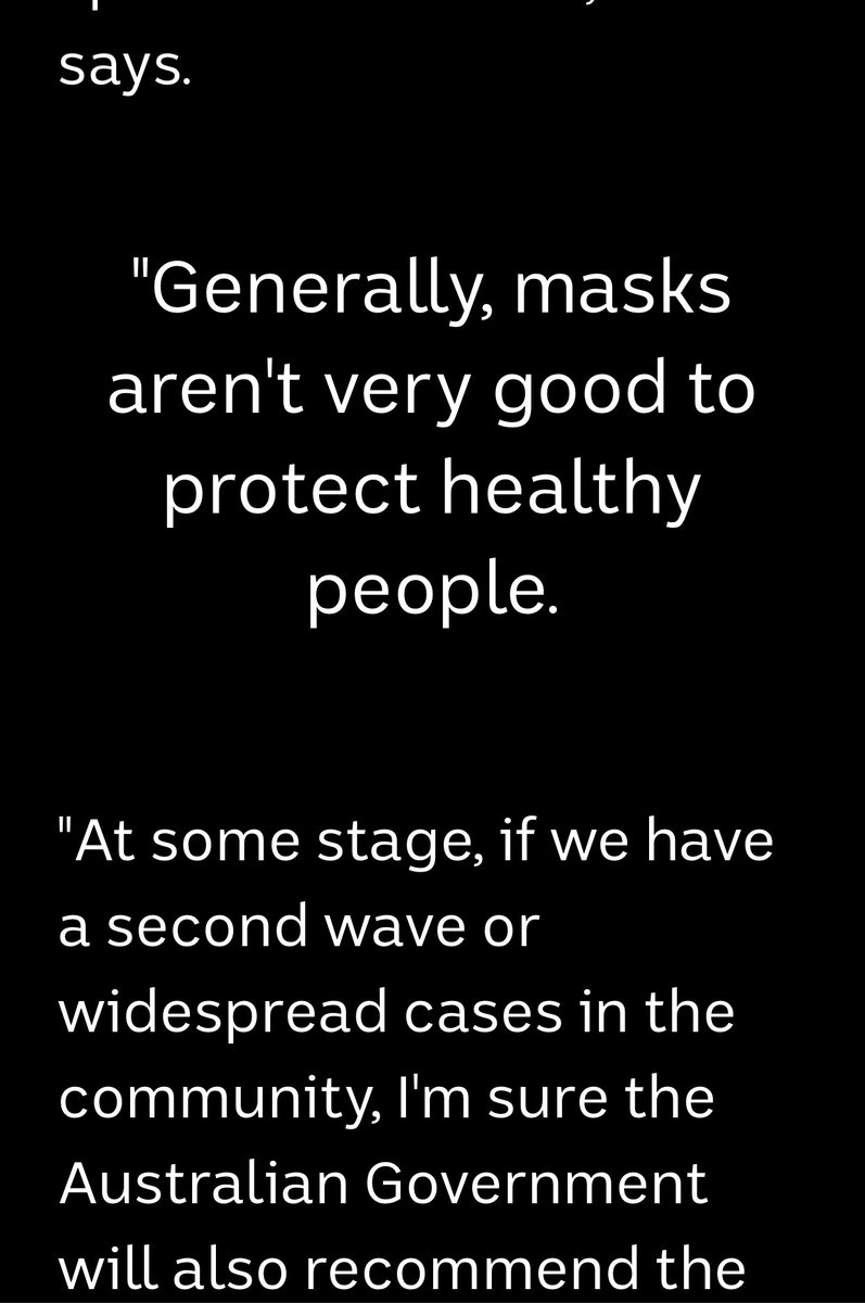 Why are you still spreading this Trumpian 'you don't need a mask' #CovidMisinformation @abcnews ? You very much do in Greater Melbourne and it certainly wouldn't hurt people elsewhere. #WearAMaskpic.twitter.com/usHOMEiX6S