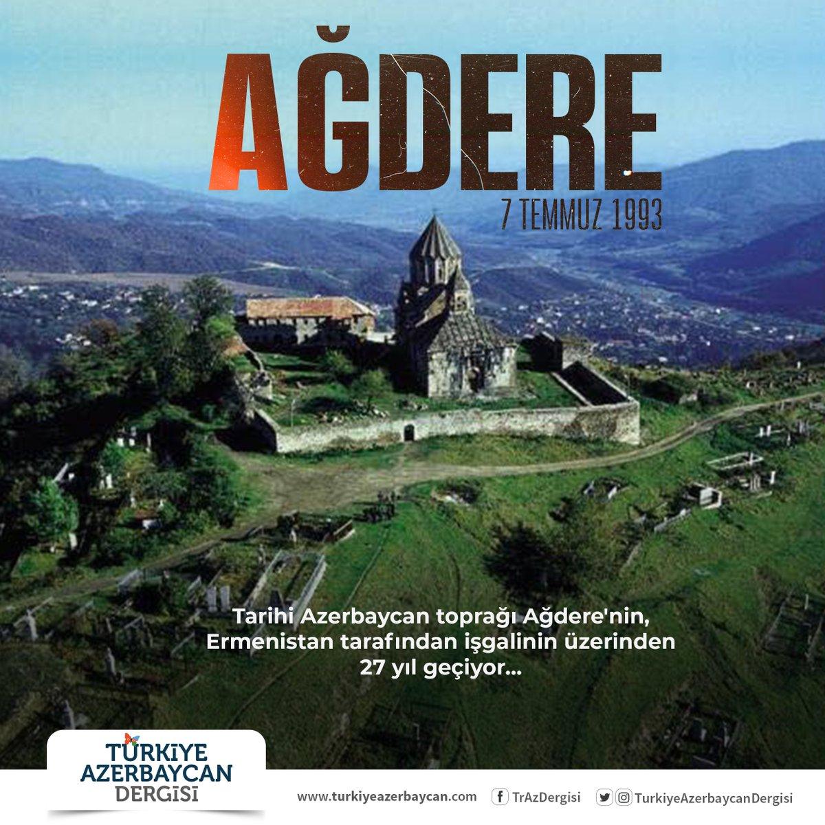Tarihi Azerbaycan toprağı Ağdere'nin, Ermenistan tarafından işgalinin üzerinden 27 yıl geçiyor... https://t.co/Ky8f7Gr63m