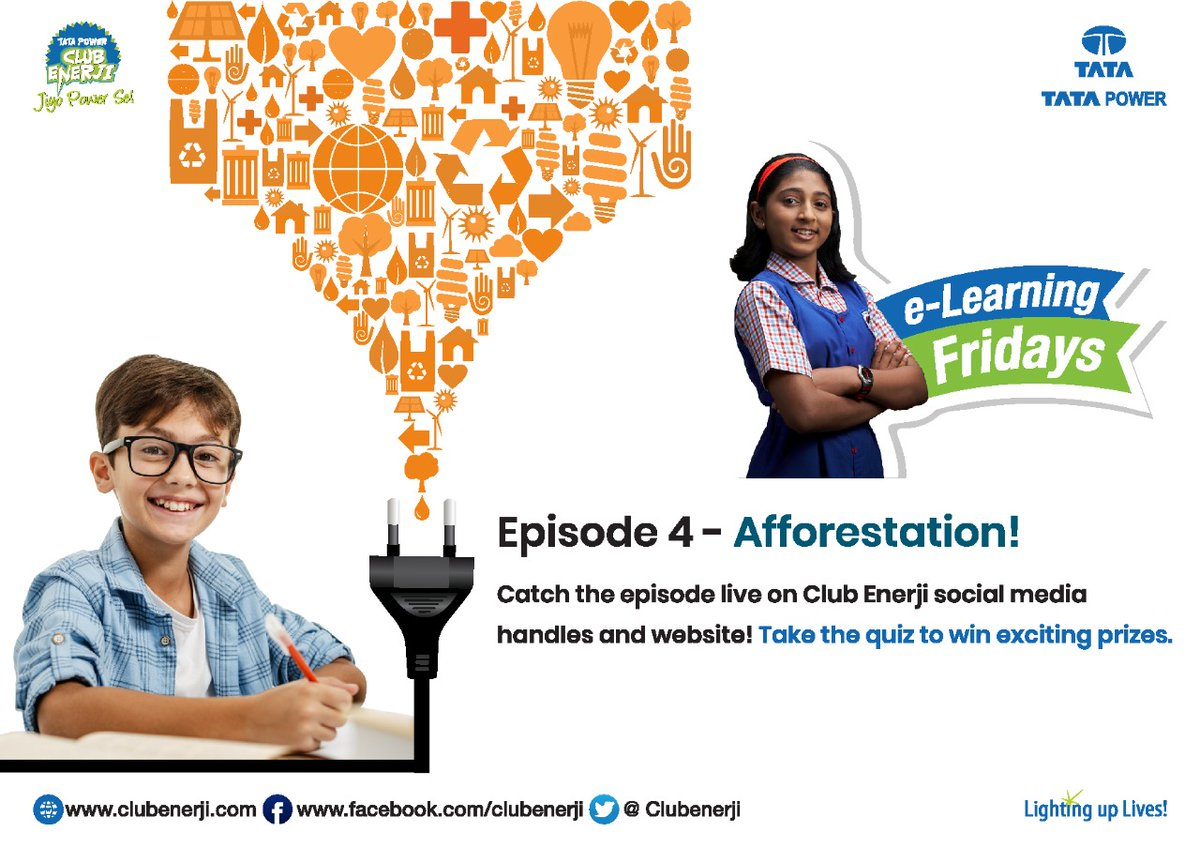 The 4th episode of the e-learning series enlightens us on ways to save energy and conserve our natural resources and why this is important. Watch here: https://t.co/3tsILnybHA & Participate in the quiz link here: https://t.co/ien75h2ETy #Elearning #ThisIsTataPower https://t.co/fWzQ9AYKYu