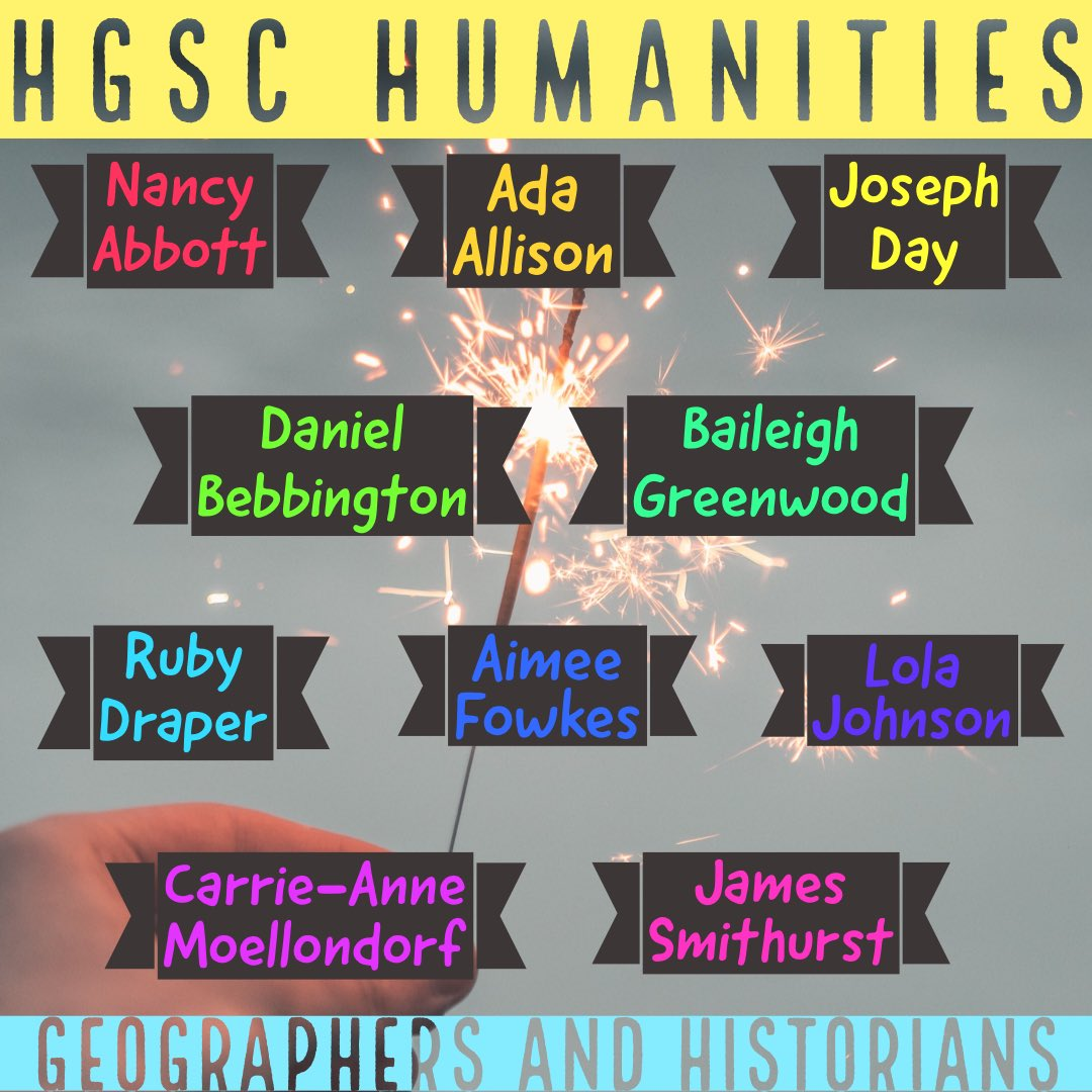 Here are our Year 7 Geographers and Historians who have been nominated by their teachers for their continued effort within their lessons!! #TeamHeanor #HomeLearning #AspireLearnAchievepic.twitter.com/U9SRXyRPbs