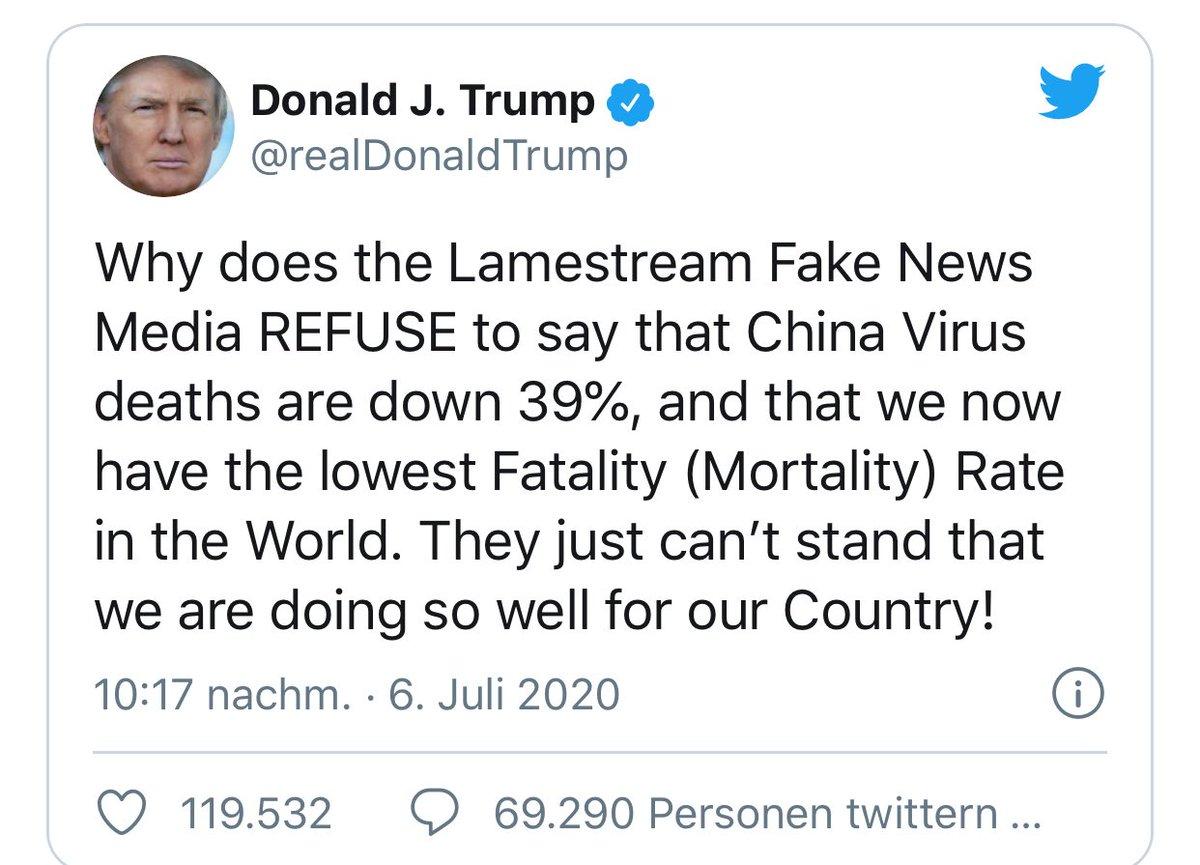 Karl Lauterbach On Twitter 6 Lugen In Einem Tweet Nicht Lamestream Medien Sondern Fast Alle Medien Klagen An Berichte Sind Keine Fake News Virus Kein China Virus Sondern Weltweit Todesrate Steigt Us