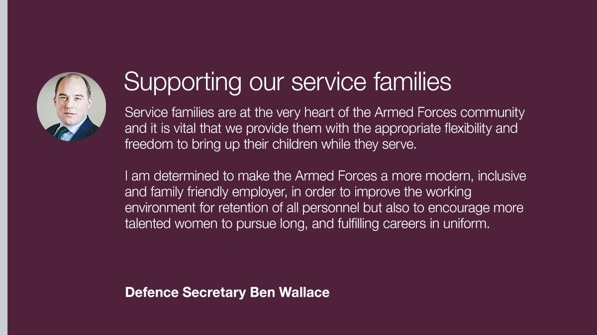 The children of service personnel will be entitled to free breakfast and after-school childcare as part of new measures to better support the Armed Forces and their loved ones @BWallaceMP announced today https://t.co/8yeFixcT8I https://t.co/BAxOcg3kH9