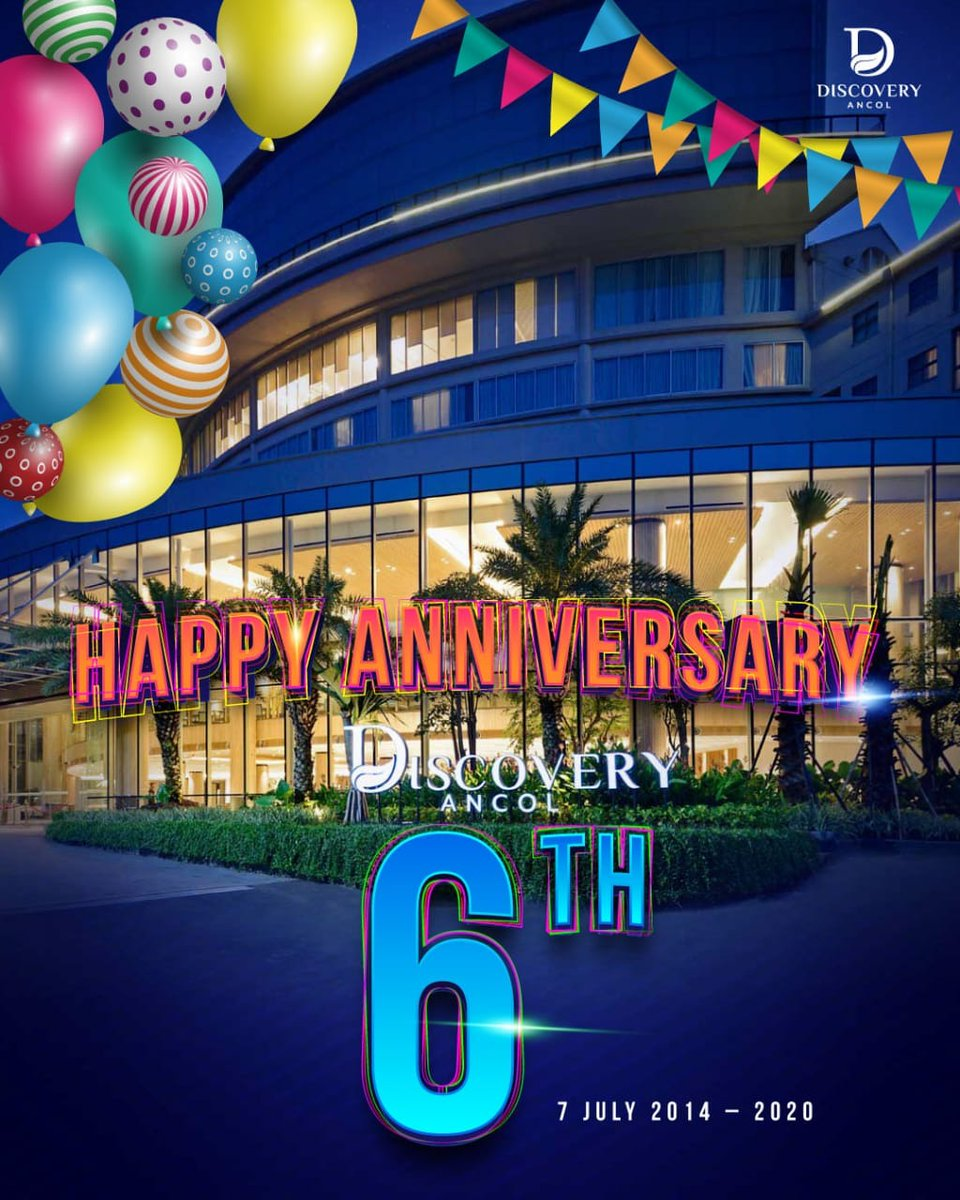 Happy Anniversary to our sister company, Discovery Ancol!  Best wishes on this year birthday and throughout the coming year.  #DiscoveryAncol #DiscoveryHotelsandResort #TravelingJakarta #ExploreIndonesia pic.twitter.com/EiXcM2ThPP