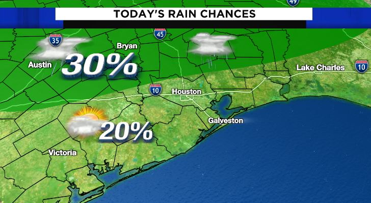 Best chance for storms today will be in our north counties! #go2weather