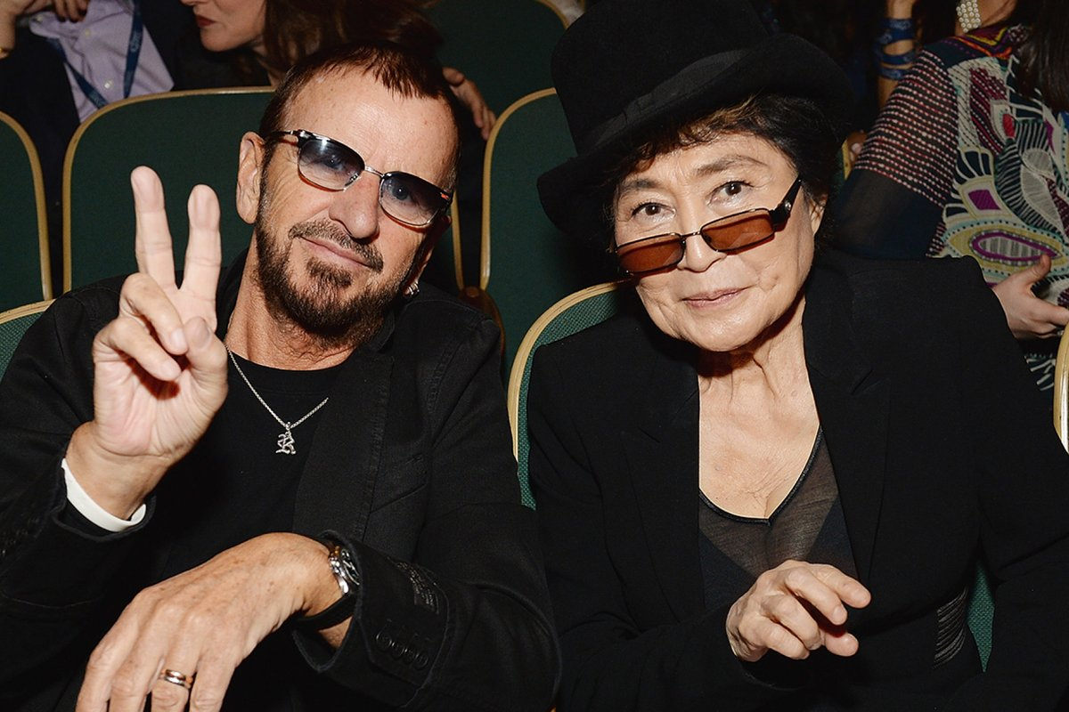Happy, Happy Birthday Ringo!  lots of peace and love, yoko ✌️❤️