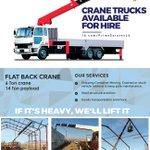 Image for the Tweet beginning: Crane Truck Hire poster designed