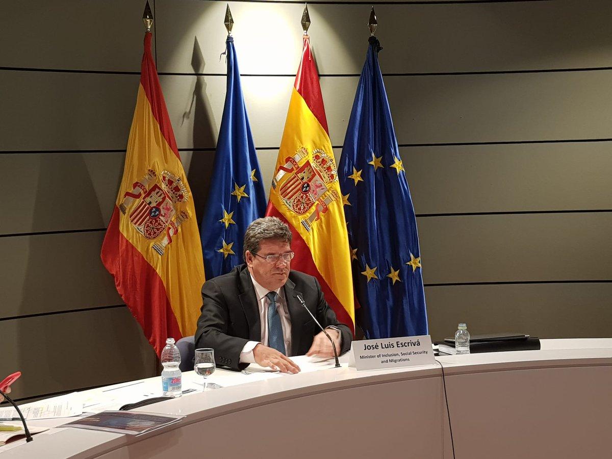🔴 El ministro @joseluisescriva está presidiendo la reunión ministerial de la @OECD dedicada a #Inclusión y Políticas de #Empleo para la recuperación https://t.co/hkAuhlM58w