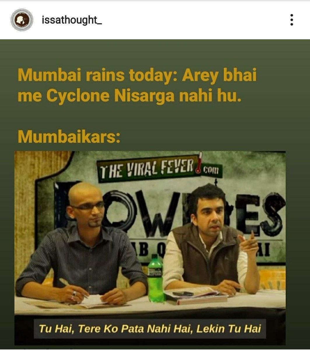 #NisargaCyclone #MumbaiMonsoon #mumbairain #MumbaiRainsLive #CycloneNisarga #TrendingNow #Trending #Mumbaipic.twitter.com/VSYbFqbi7G