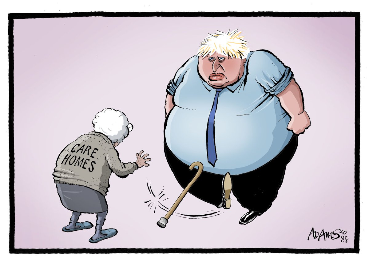 Our @Adamstoon1 @EveningStandard as PM blames care homes https://t.co/vH0bCi25yE