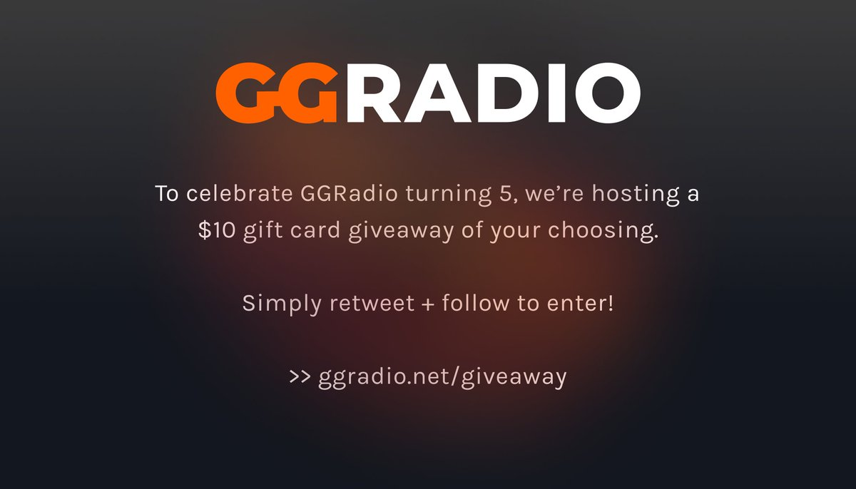 After months of work, we've launched GGRadio 5 today!  ▶ https://t.co/suXoME5UKN  #RT and #Follow to enter for our $10 PSN, Xbox or Steam gift card giveaway to celebrate!  #xbox #psn #giftcard #giveaway #radio #gaming #esports #gamer #music #playstation #nintendo #csgo #ets2 https://t.co/7s69VwZgdi