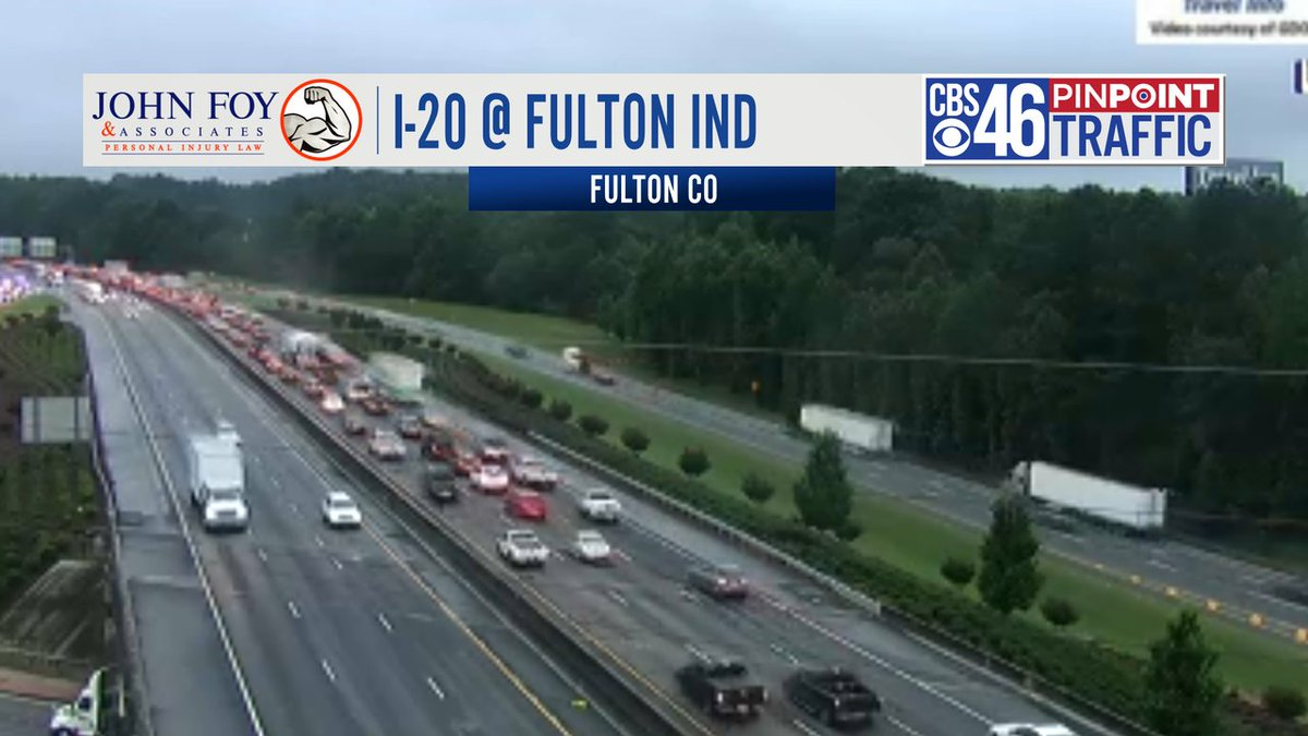 6:45 am - TRAFFIC ALERT - slowdown heading eastbound on I-20 near Fulton Industrial. Tree down on the right side of the road.  #cbs46 https://t.co/CIb6kiM8VQ