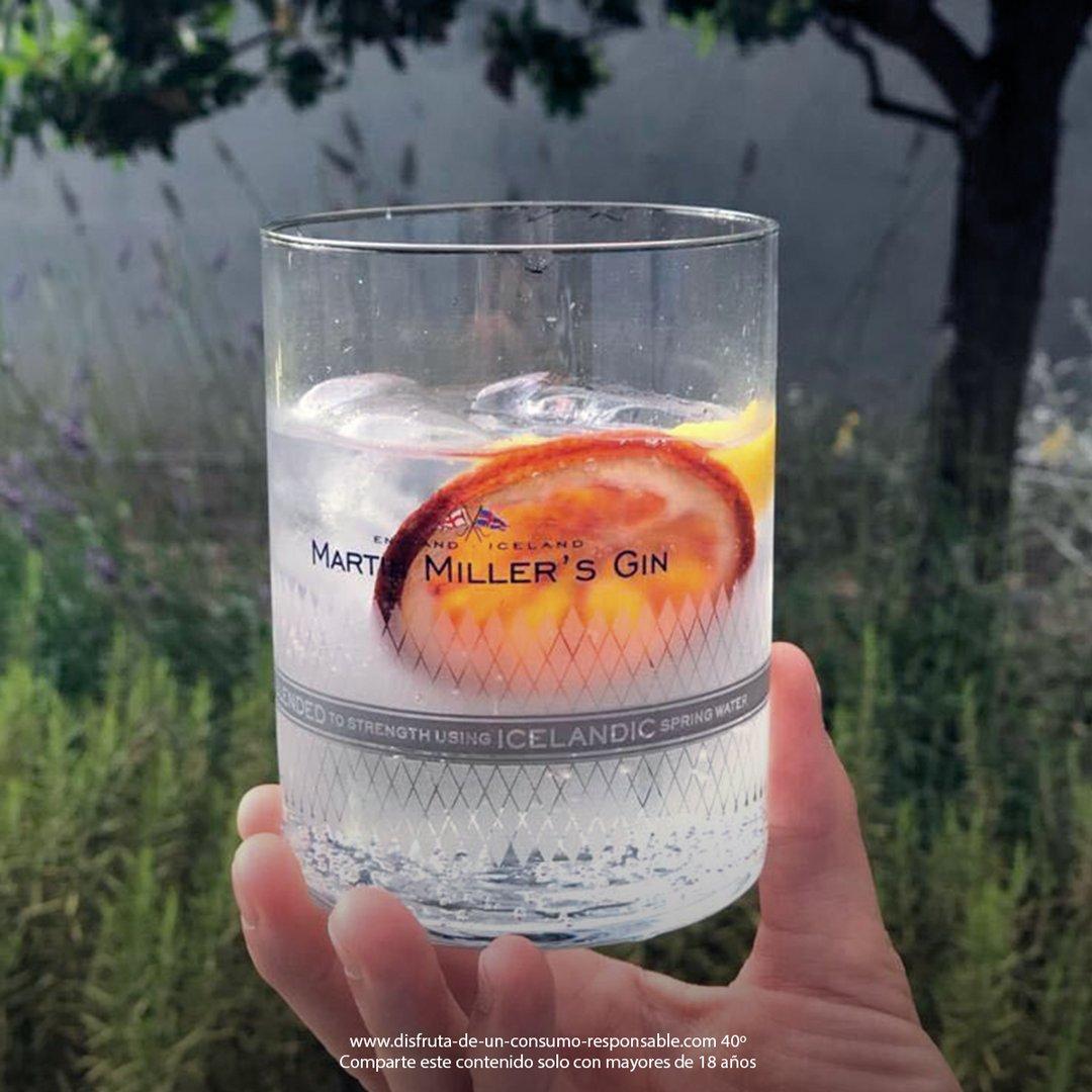 Refresca tu verano con un mini gintonic de #MartinMillersGin. ¡No olvides añadirle naranja deshidratada y un twist de limón! https://t.co/EbNaCk9MAI