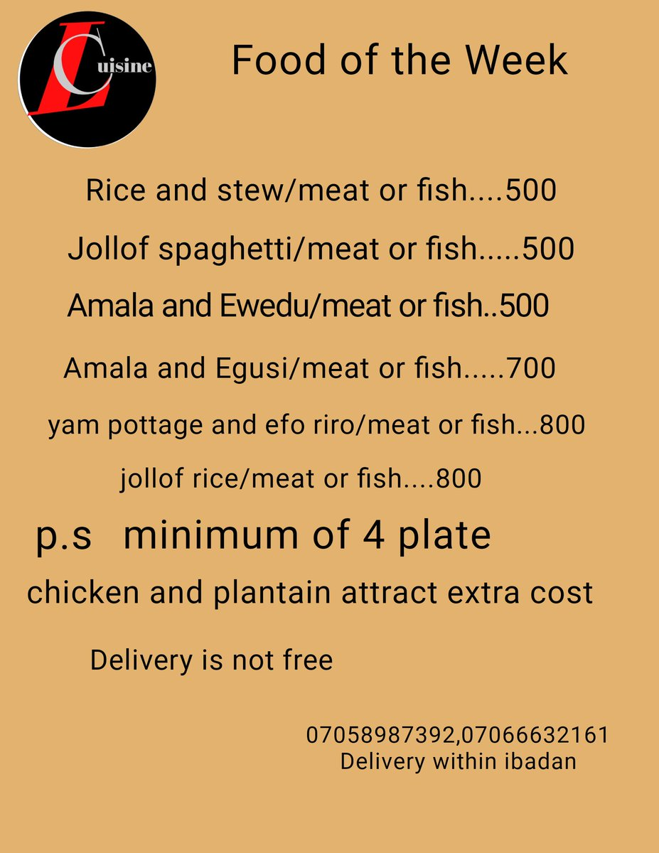 @lades_cuisine is the best foodplug in ibadan with mouth watering delicacies.07058987392,07066532161. #Food #Nigeria #amala #ibadan # egusi