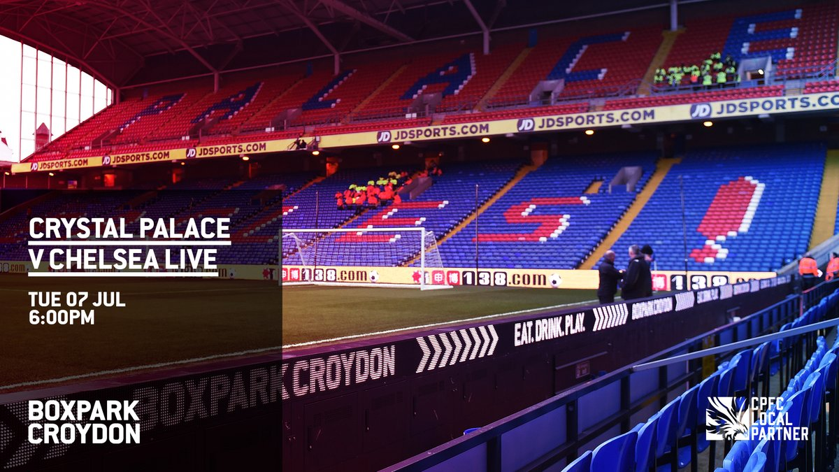 TONIGHT: Watch @CPFC v Chelsea on our big screen 🙌  Click here to register for entry: https://t.co/SU33Edj0pg https://t.co/i9JPwVbpDU