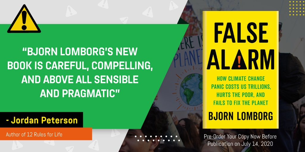 Have you Pre-Ordered your copy?  False Alarm will convince you that everything you think about climate change is wrong -- and points the way toward making the world a vastly better, if slightly warmer, place for us all.  Pre-Order: https://t.co/E8O3zcHKEe https://t.co/DNF5ysFqxr