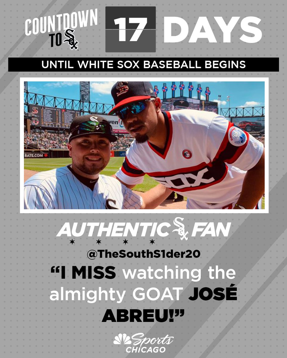 We can relate, @TheSouthS1der20. #AuthenticFan   17 days until White Sox baseball  🖤 https://t.co/qf1SRGbrM1