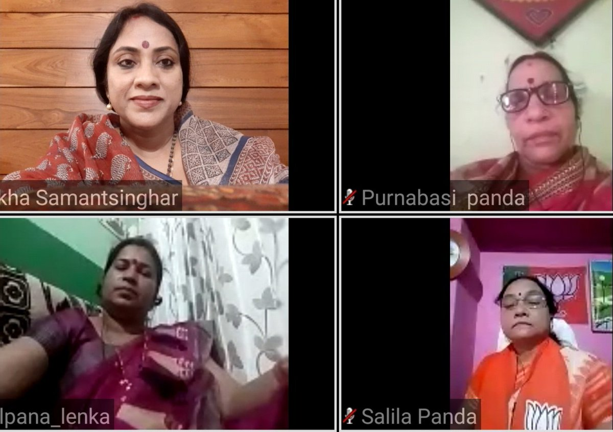 Mahila Jan Samvad virtual rally today of Sambalpur district observing #1YearofModi2 and remembering the achievements of #ModiSarkar with all our beloved sisters and women leaders. @SmrutiPattnaik6 @AnuChoudhury2 https://t.co/etfzBjJtwO