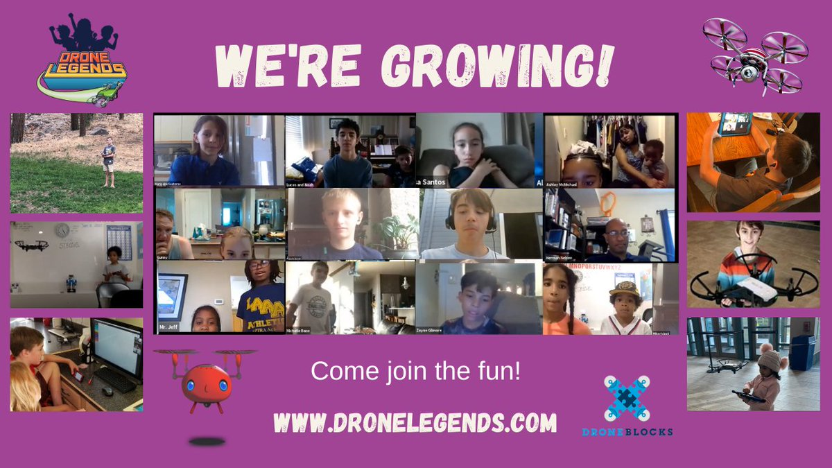 Hey #parents!  @Drone_Legends programs are fun, cool and #educational. We're growing globally and our #kids are having a blast this #summer. Come see what the #fun is about @   #STEM #Creative #Coding4Kids #drones #SummerLearningWeek