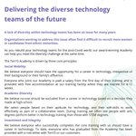 Image for the Tweet beginning: Delivering the diverse technology teams