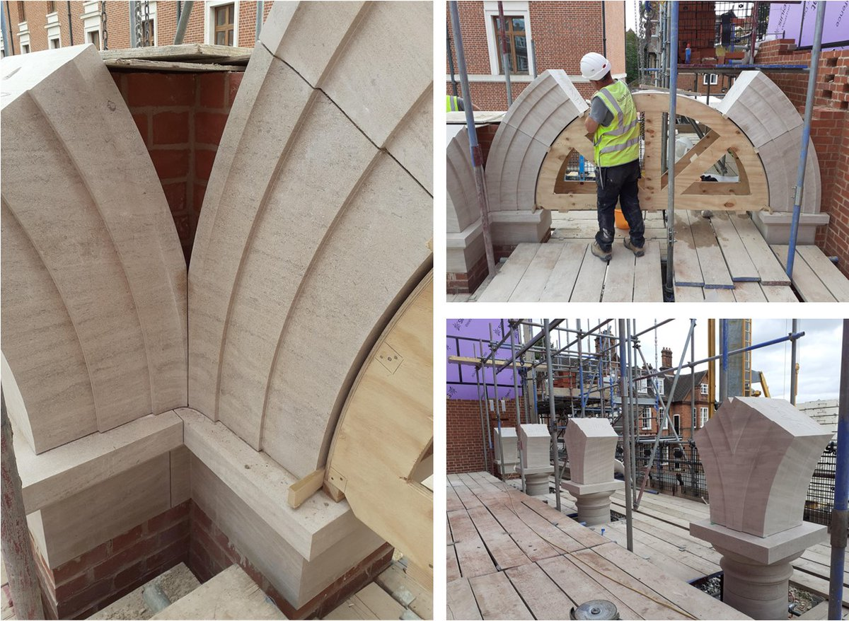 Stone arches under construction that will support the first floor terrace at the new Auditorium and Library @Selwyn1882 #Cambridge https://t.co/yQd8qyQE08
