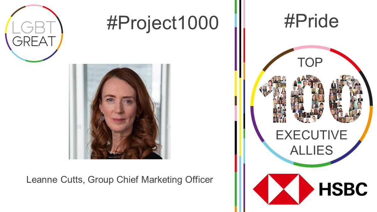 """I'm a strong believer in creating an inclusive work environment which not only accepts, but encourages diverse teams"" - Leanne Cutts, Group Chief Marketing Officer, @HSBC_UK #Project1000 #Pride #YouMeUsWe https://t.co/h4zmZbRJwZ https://t.co/slpJA7AXS0"