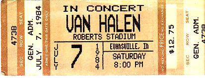 #OTD in 1984, The Mighty @VanHalen plays Roberts Stadium in Evansville, IN. <br>http://pic.twitter.com/qA7R6p6RUY