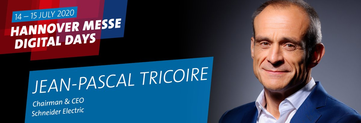 SPEAKER ALERT: Covid-19 is changing society and industry all over the world. Can Europe benefit from the new normal?   @SchneiderElecDE CEO @jptricoire shares his thoughts on 15 July, 3 p.m. (CEST), at #HMDigitalDays.   See all of the speakers at https://t.co/q4OtZdEAZz https://t.co/ZGsfKd9oEZ