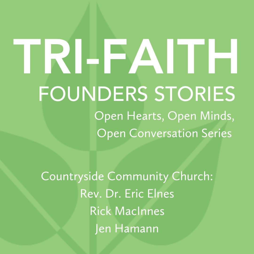 Don't miss our Open Conversation this Thursday, July 9 at 12:00 pm CDT! Register now to hear about Countryside Community Church's part in the Tri-Faith story: http://ow.ly/DF0C50AqVnd pic.twitter.com/WSmbFGWj2P
