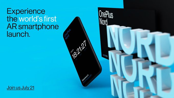 OnePlus Nord to launch on July 21pic.twitter.com/hkj0Xr0S1I