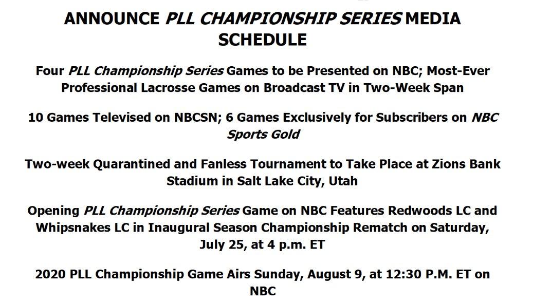 .@PremierLacrosse announces schedule for its quarantine tournament #SportsBiz https://t.co/i08MT9QshO
