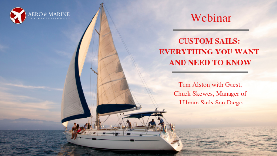 Our webinar guest is Chuck Skewes of Ullman Sails San Diego, Ullman Sails Pacific Northwest and Ullman Sails Puerto Vallarta.   https://t.co/HgBfAROeKR   #aviation #airplane #planes #jets #aircraft #pilot #helicopters #boats #vessels #sailing #yachts #businessaviation #bizav https://t.co/547WC8rACG