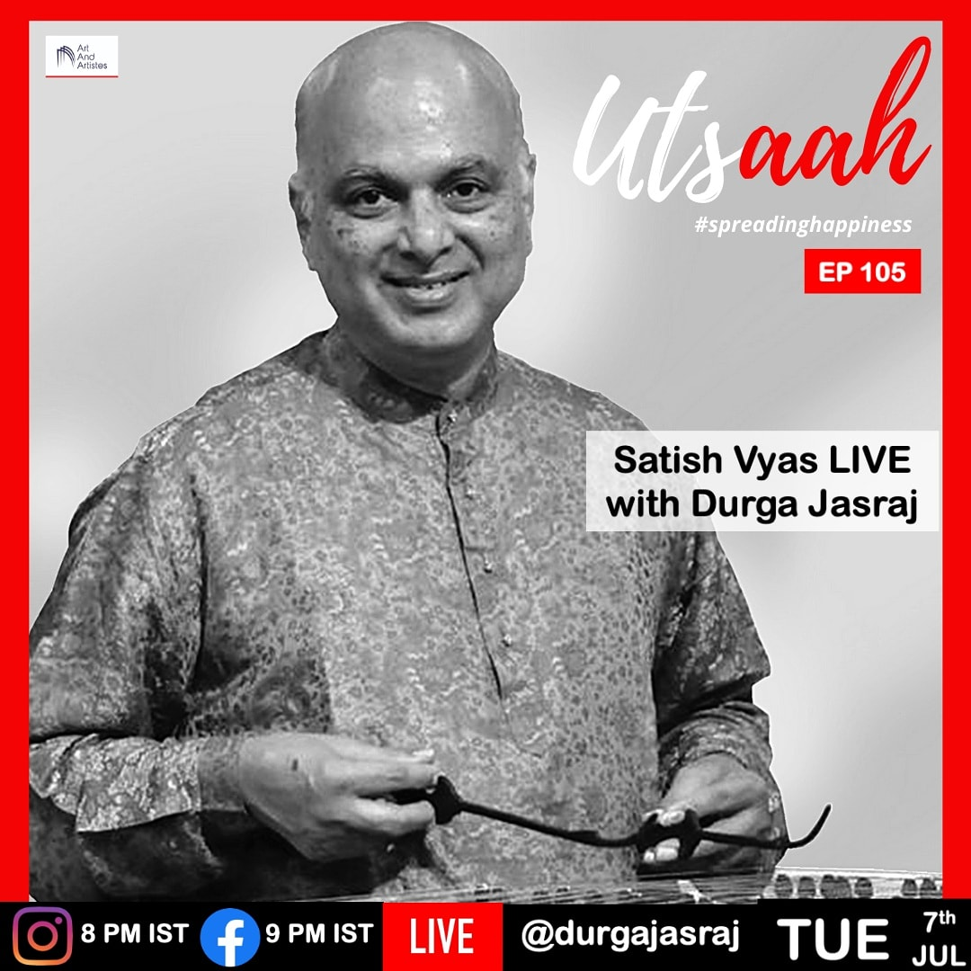 "Today 7th July 2020, in episode #105 of our daily show ""Utsaah"" #spreadinghappiness we are happy to present the Santoor Maestro Pandit Satish Vyas...    Satish Vyas is the son of the erudite vocalist of Hindustani Classical Music,  Padma Bhushan Pt. CR Vyas, who was also pic.twitter.com/ad8dI038Km"