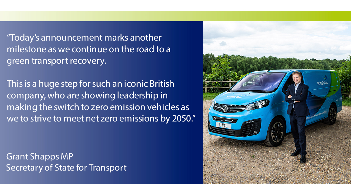 Thanks to @grantshapps and the @transportgovuk for supporting our progress announcement on electrifying our #fleet by 2030. Read more → https://t.co/fmTnl0nx0E #EV https://t.co/NheWI9fJaH