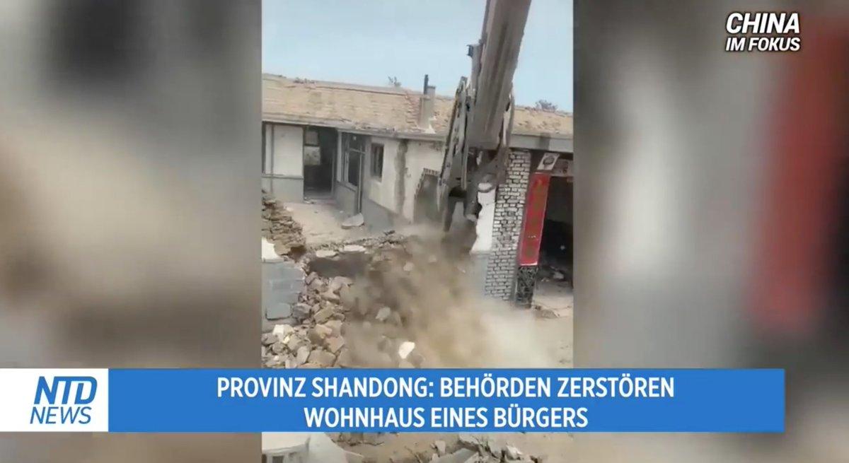 ... und wieder ein #Mensch ohne sein zu Hause ... hoffentlich wachen die deutschen Politiker endlich mal auf!  Shandong, #China: Behörden zerstören Wohnhaus - Frau sitzt mit ihren Habseligkeiten auf der Straße https://t.co/biVzLcuoVH via @China_Welt_News https://t.co/p4L0DQasvP
