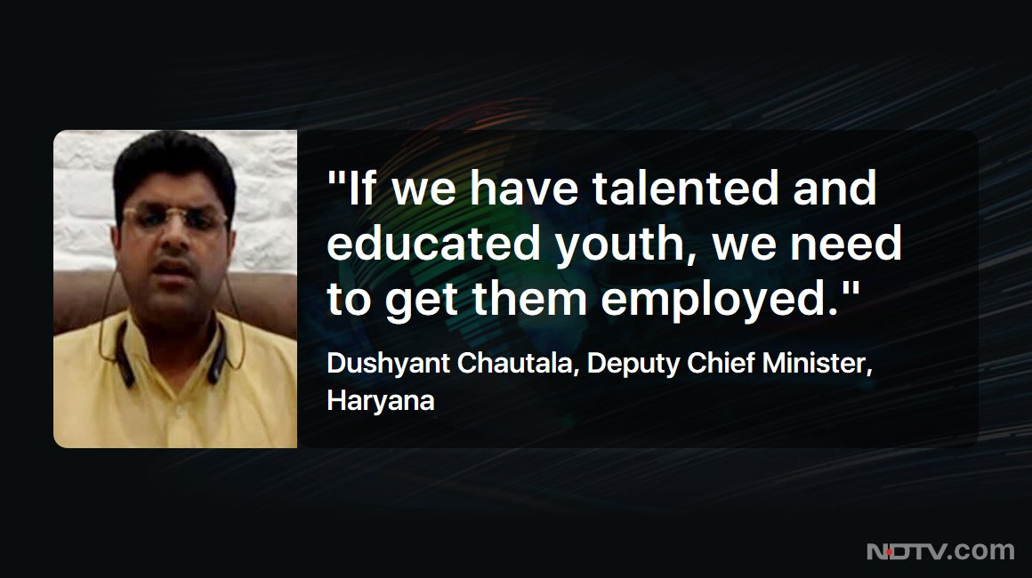 #NDTVExclusive | Haryana Deputy Chief Minister Dushyant Chautala (@Dchautala) on 75% quota for locals in private jobs in the state https://t.co/bEVLim09ml